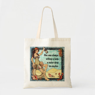 Always Willing to Help a Sailor Budget Tote Bag