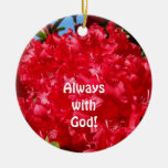 Always with God! hanging ornaments Red Rhodies