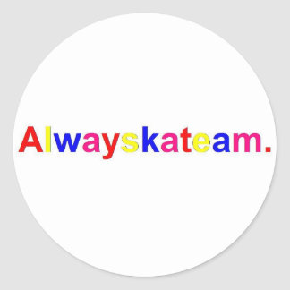 Alwayskateam Logo Multi-Color Round Sticker