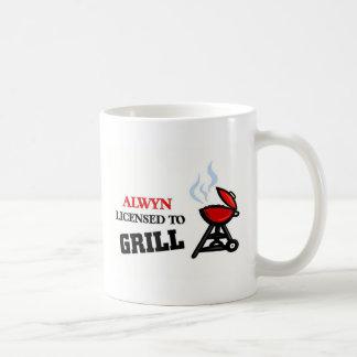 Alwyn licensed to grill coffee mugs