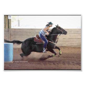 Alycia Barrel Race Photo Print