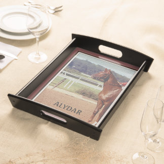 Alydar Belmont Stakes 1978 Serving Tray