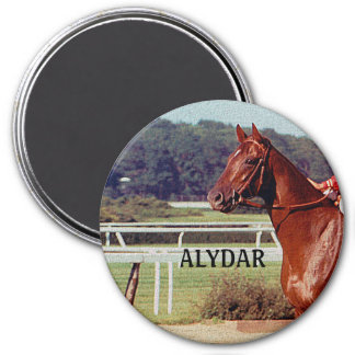 Alydar Belmont Stakes Post Parade 1978 3 Inch Round Magnet