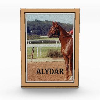 Alydar Belmont Stakes Post Parade 1978 Acrylic Award