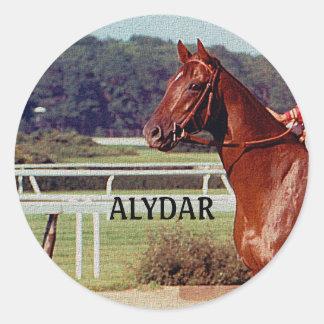 Alydar Belmont Stakes Post Parade 1978 Classic Round Sticker