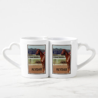 Alydar Belmont Stakes Post Parade 1978 Coffee Mug Set