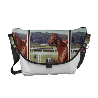 Alydar Belmont Stakes Post Parade 1978 Courier Bag