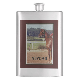 Alydar Belmont Stakes Post Parade 1978 Flask