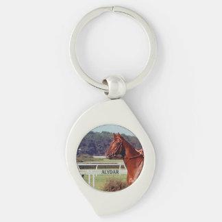 Alydar Belmont Stakes Post Parade 1978 Keychain