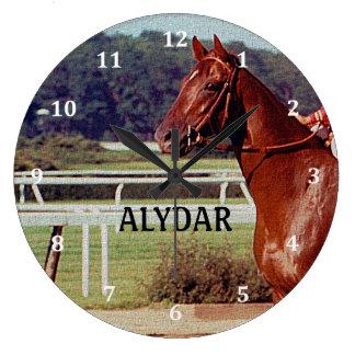 Alydar Belmont Stakes Post Parade 1978 Large Clock