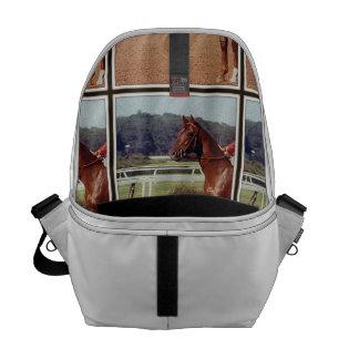Alydar Belmont Stakes Post Parade 1978 Messenger Bag