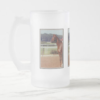 Alydar Belmont Stakes Post Parade 1978 Frosted Beer Mug