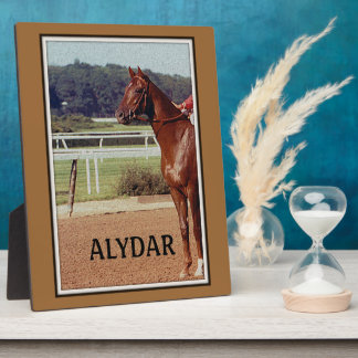 Alydar Belmont Stakes Post Parade 1978 Plaque