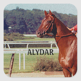Alydar Belmont Stakes Post Parade 1978 Square Sticker