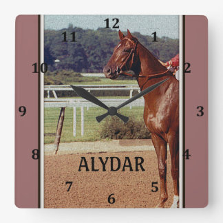 Alydar Belmont Stakes Post Parade 1978 Square Wall Clock