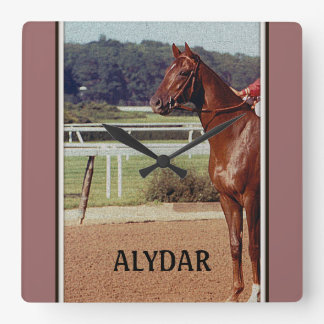 Alydar Belmont Stakes Post Parade 1978 Square Wall Clocks
