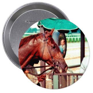 Alydar Thoroughbred 1979 4 Inch Round Button