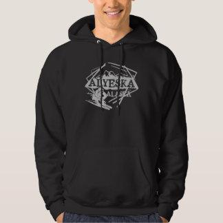 Alyeska Alaska gray theme ski logo hoodie