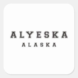 Alyeska Alaska Square Sticker