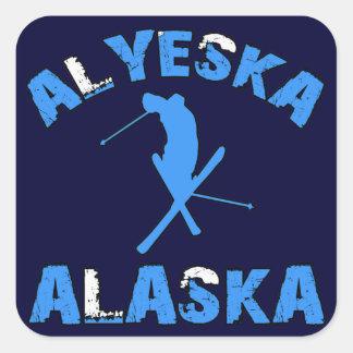 Alyeska, Alaska Square Sticker