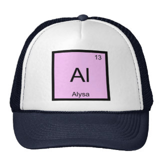 Alysa Name Chemistry Element Periodic Table Trucker Hat