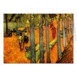 Alyscamps de Vincent van Gogh Tarjeta De Felicitación