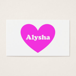 Alysha Business Card