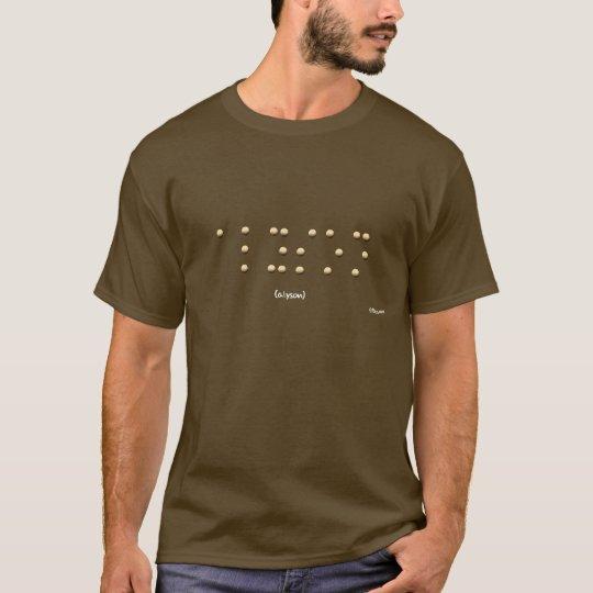 Alyson in Braille T-Shirt