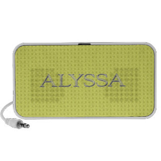Alyssa Custom Raised Lettering Mini Speaker