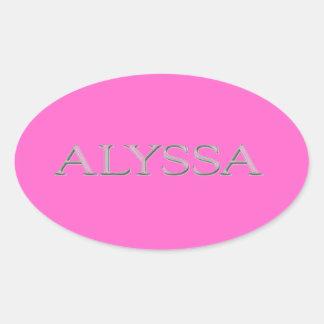 Alyssa Custom Raised Lettering Sticker