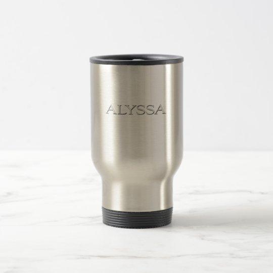 Alyssa Custom Raised Lettering Travel Mug