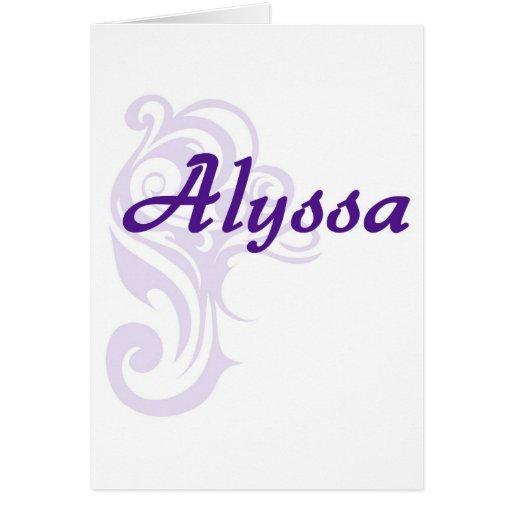 Alyssa Felicitaciones