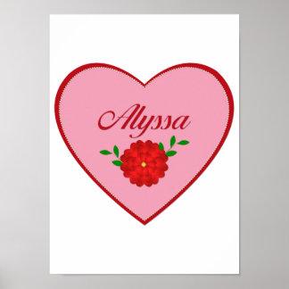 Alyssa heart poster