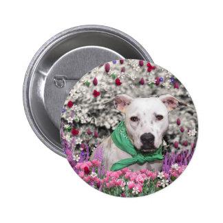 Alyssa in Flowers Button