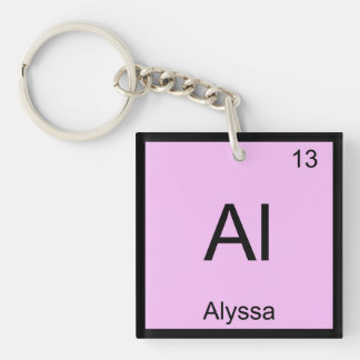 Alyssa Name Chemistry Element Periodic Table Keychain