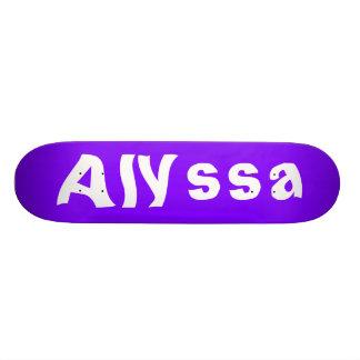 Alyssa Personalized Skateboard Custom Skateboard