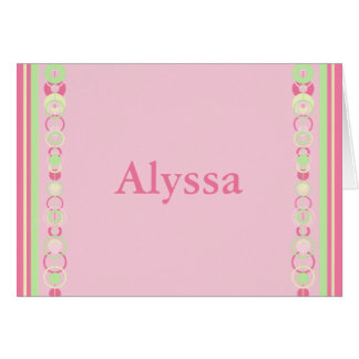 Alyssa Pink Modern Circles Card