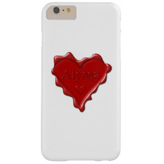 Alyssa. Red heart wax seal with name Alyssa Barely There iPhone 6 Plus Case