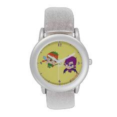 Alyssa Vs. Nafaria Wristwatches at Zazzle