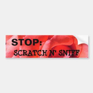 Alyssas nana rose, STOP:, SCRATCH N' SNIFF Car Bumper Sticker