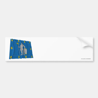 Alytus County Waving Flag Bumper Sticker