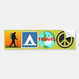 Alza, campo, viaje, paz pegatina de parachoque