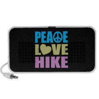 Alza del amor de la paz altavoces de viajar