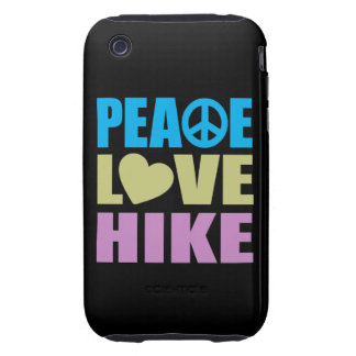 Alza del amor de la paz tough iPhone 3 cárcasa