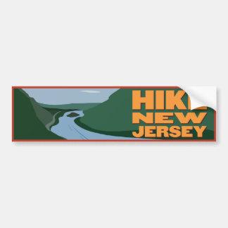 Alza New Jersey - pegatina Etiqueta De Parachoque