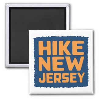 Alza New Jersey (resplandor) Imán Cuadrado