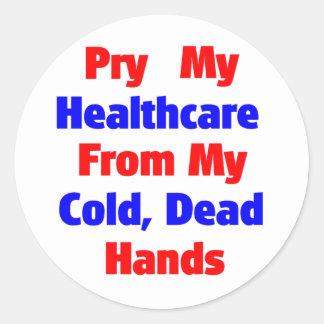 Alzaprime mi atención sanitaria de mis manos etiqueta redonda