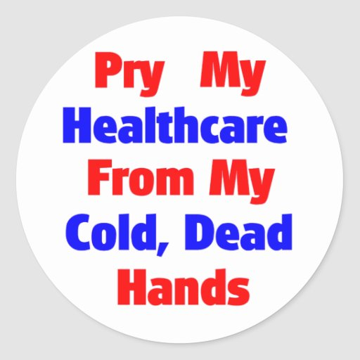Alzaprime mi atención sanitaria de mis manos pegatina redonda