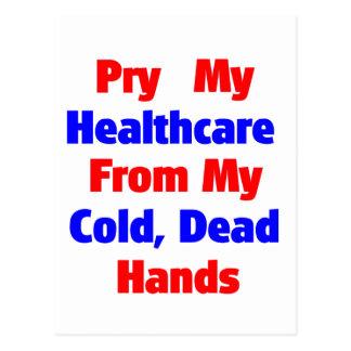 Alzaprime mi atención sanitaria de mis manos tarjeta postal
