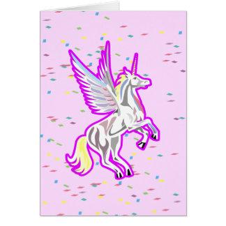 Alzar ángel de guarda del unicornio tarjetón